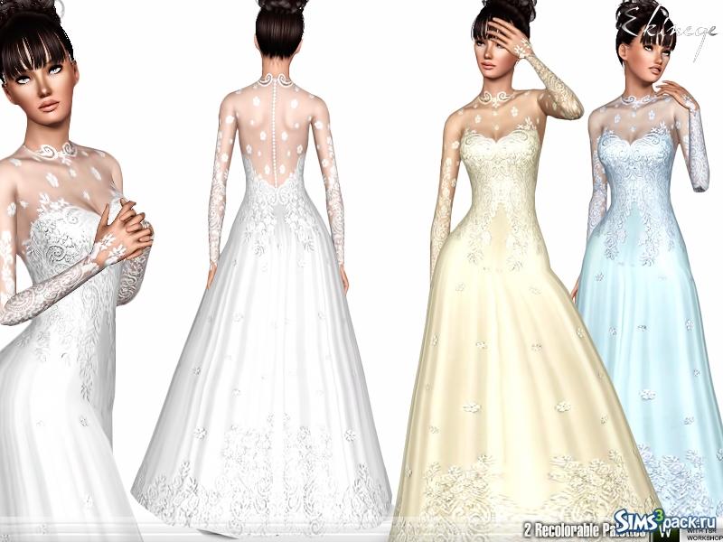 Скачать свадебное платье симс 2