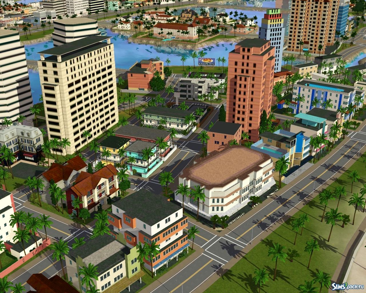 Скачать Город В Симс 3