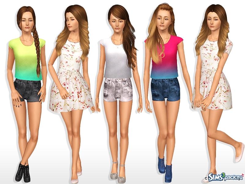 Sims 3 одежда
