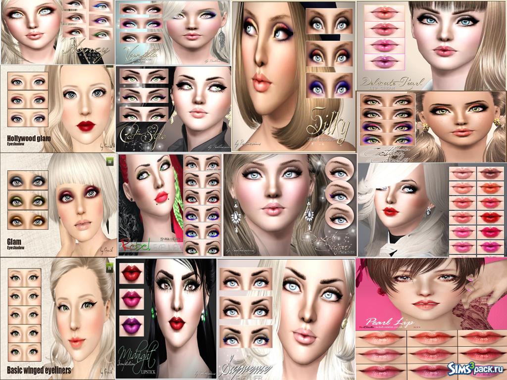 Моды для симс 4 на прически и косметика