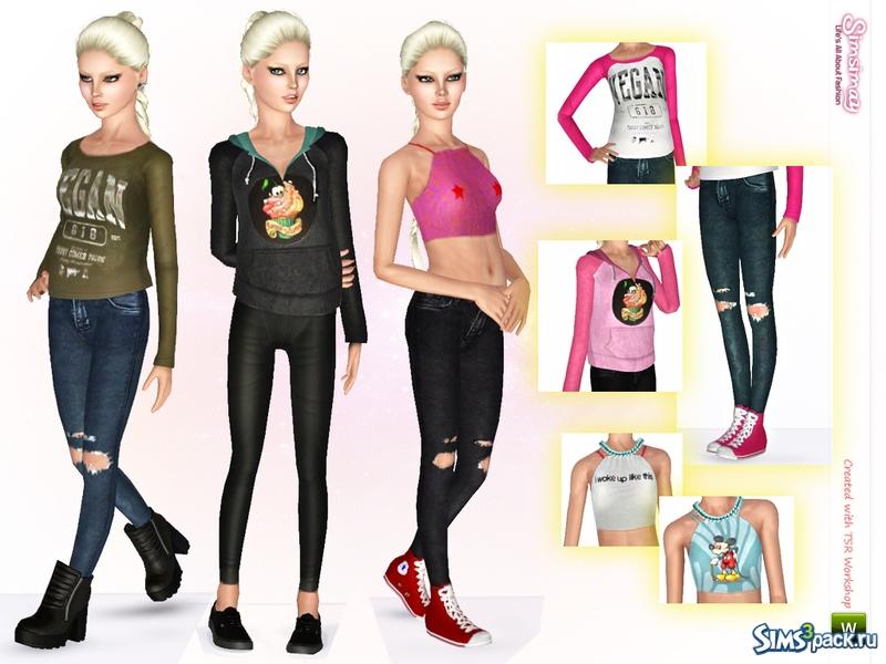Sims 3 одежда скачать в формате package