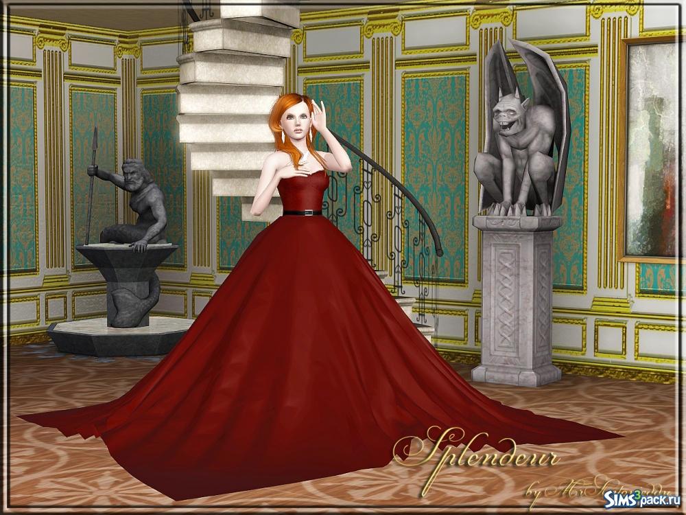 Моды в симс 4 пышное платье