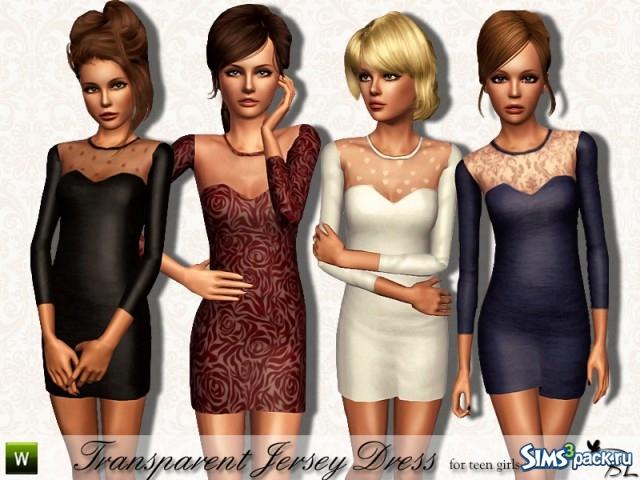 Скачать платье для подростка в симс 3