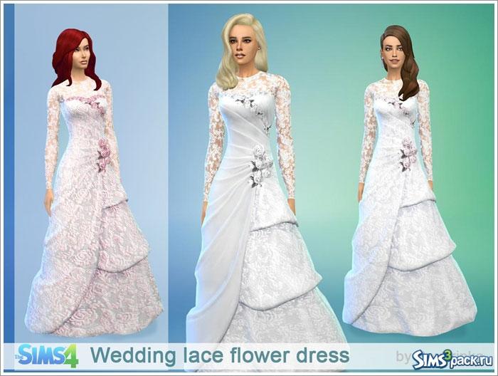 скачать мод на симс 4 на свадебное платье
