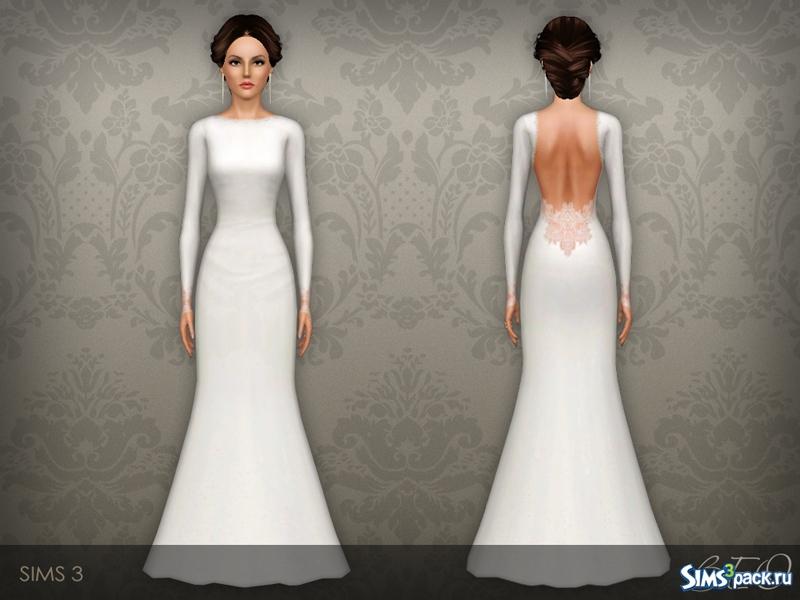 Свадебное платье для симс 3 от beo
