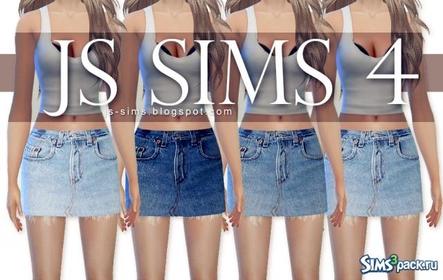 Мини юбка для sims 4