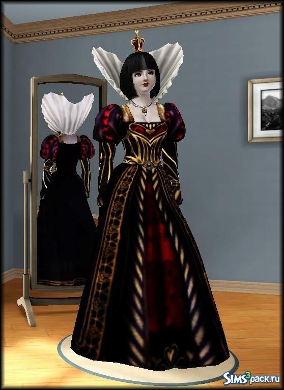 платье королевы симс 3