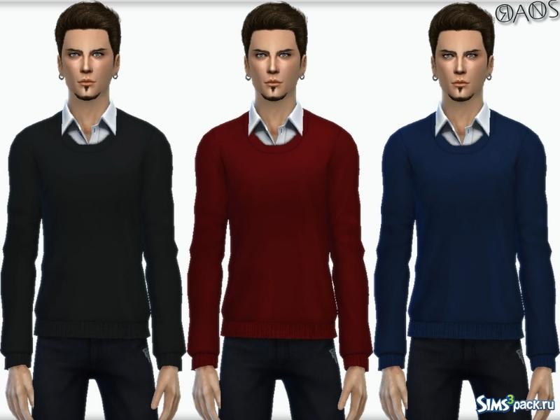 Джемпер мужской с рубашкой