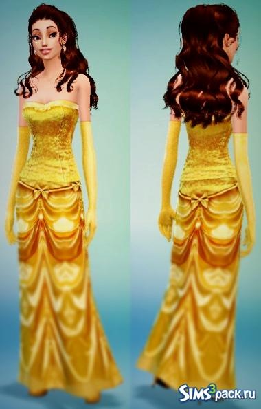 Платье рапунцель симс 4