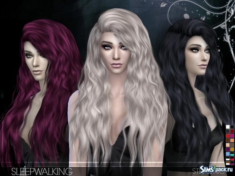 Прически женские sims 4