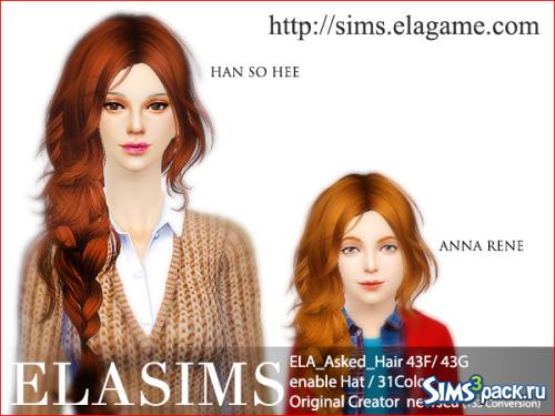 Женская прическа 43 Newsea (TS3 Conversion) от ElaSims