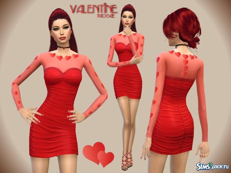 Скачать красное платье для симс 4