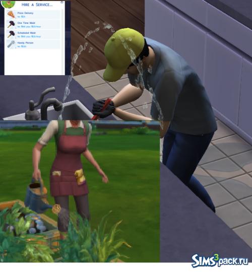 Мод, добавляющий в игру садовника и сантехника от Daveo