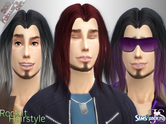 Мужские длинные волосы симс 4
