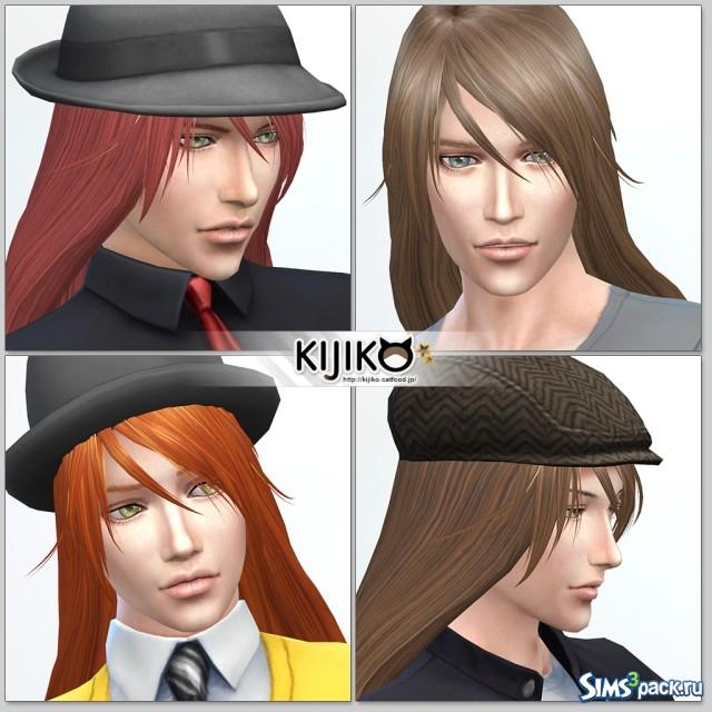Прически мужские симс 4 длинные волосы