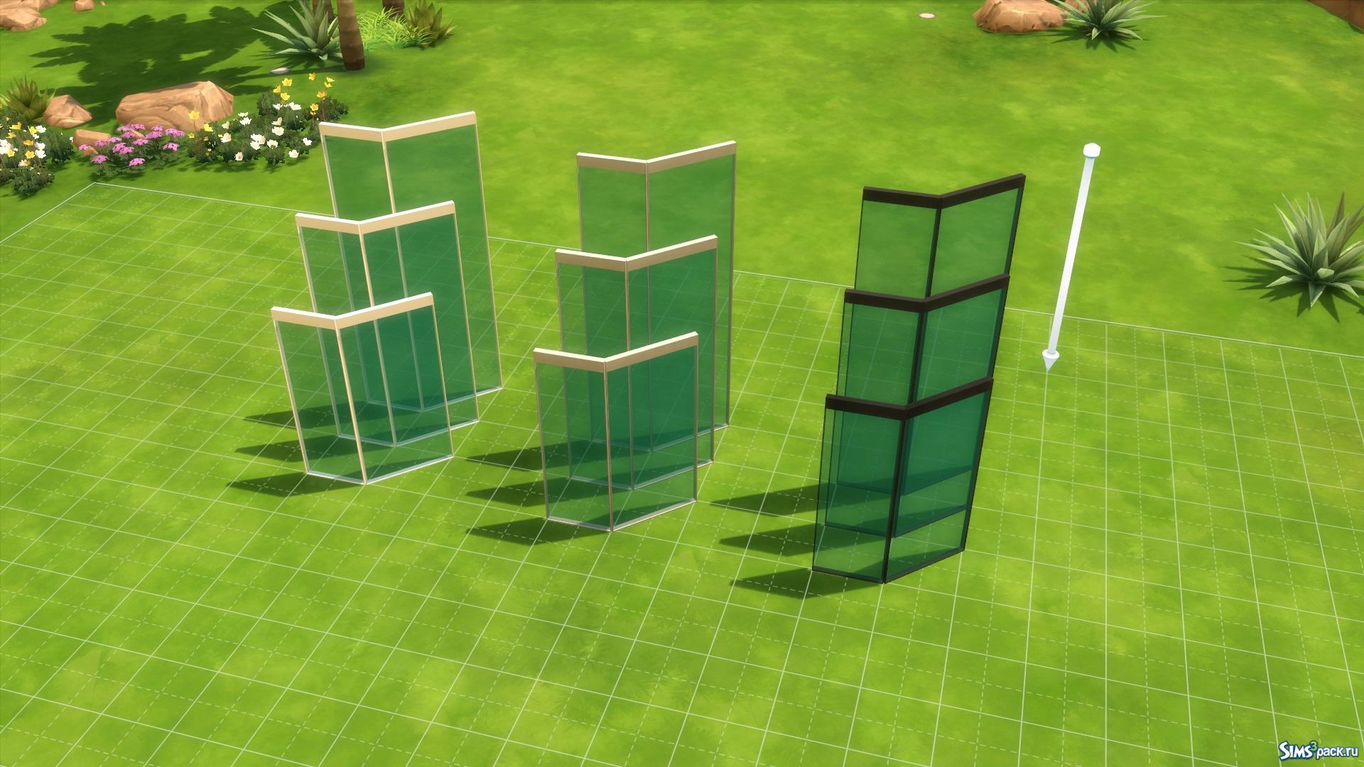Скачать стеклянные стены от Maloverci для Симс 4