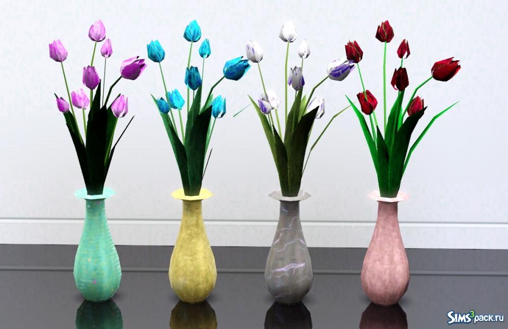 Симс 4 цветы декор