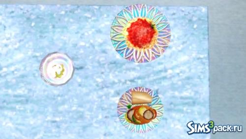 Дефолтная перекраска тарелок Iridesce dinnerware set от sugarpillsims