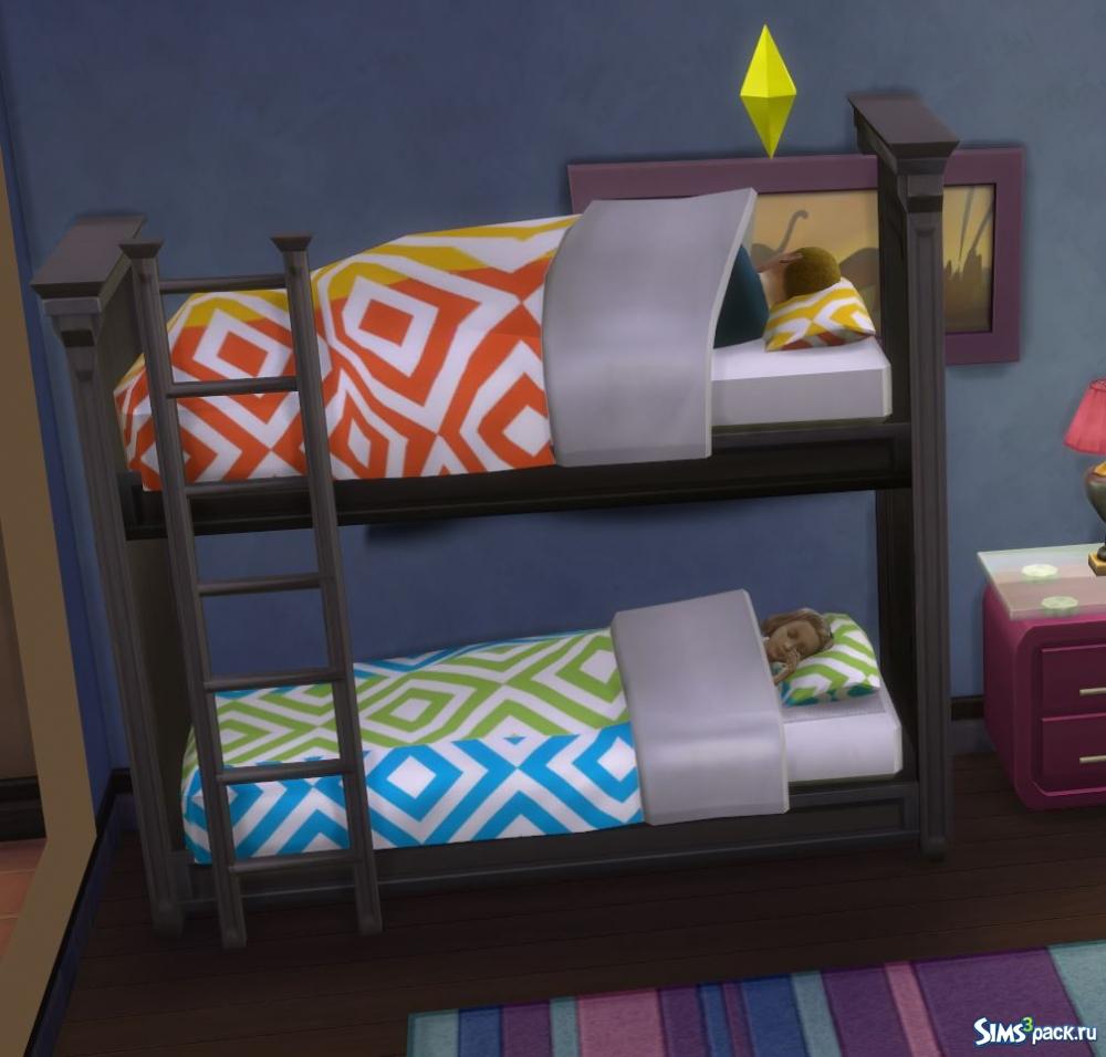 Как в симс 4 сделать двухъярусную кровать 477