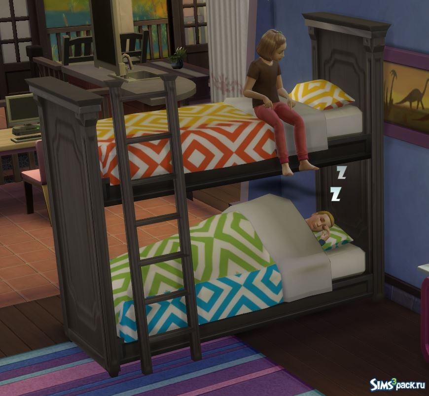скачать мод в симс 4 двухэтажные кровати