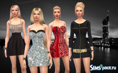 Набор платьев симс 4