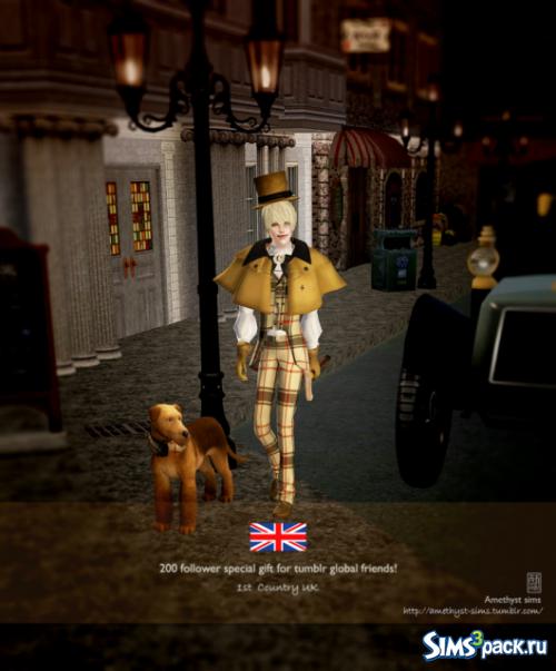 Сет с костюмами для мужчин и собак от Amethyst