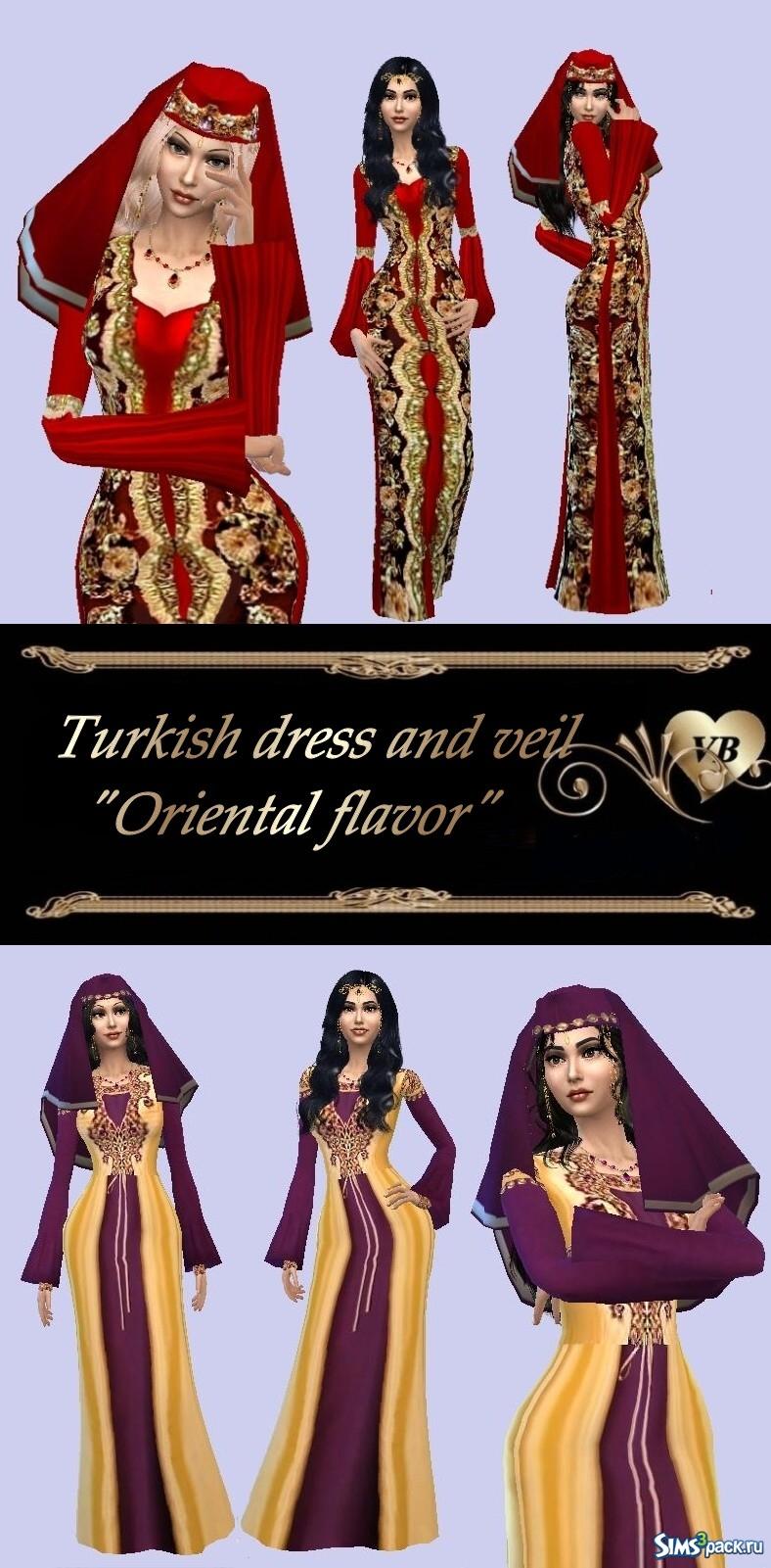 Восточное платье для симс 4