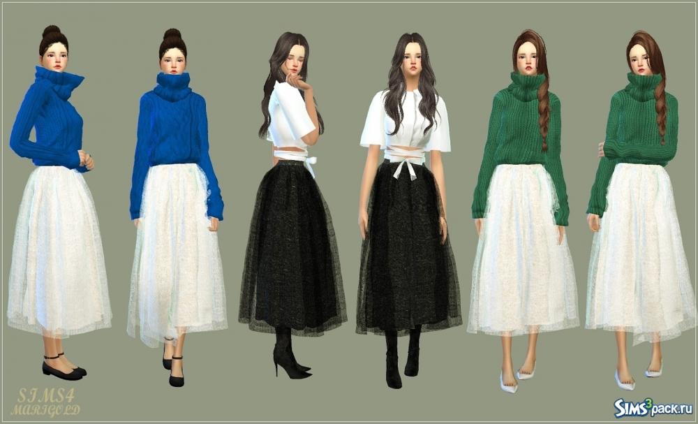 Симс 4 юбки женские