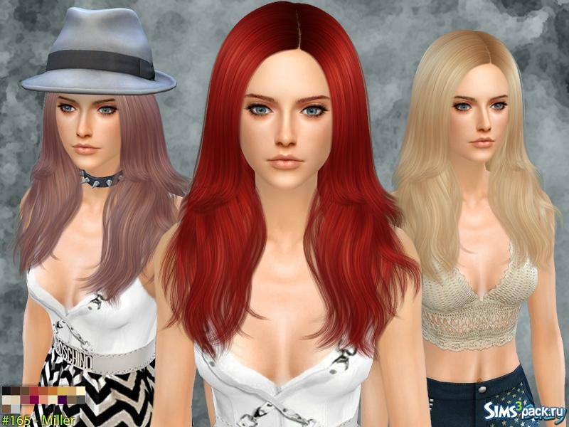 Длинные волосы для симс 4 женские прически