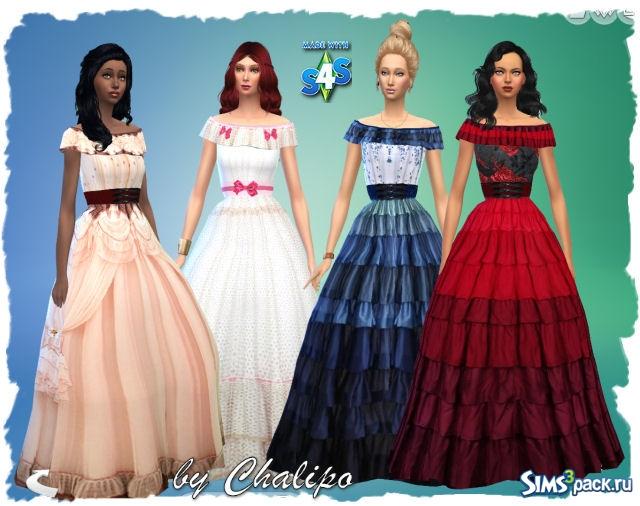 Длинное платье симс 4
