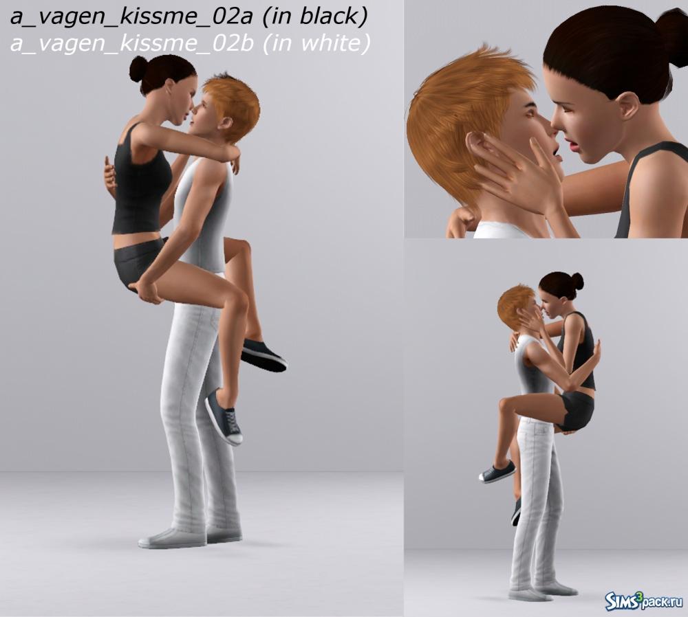 поцелуи позы