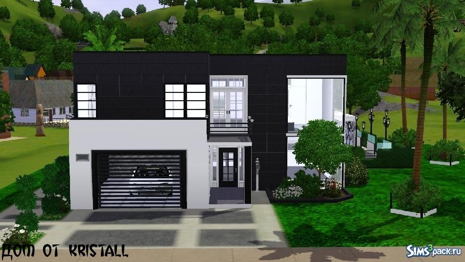 картинка дом черно-белая