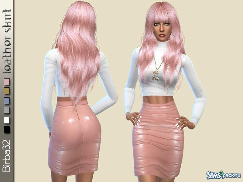 Кожаная юбка для симс 4