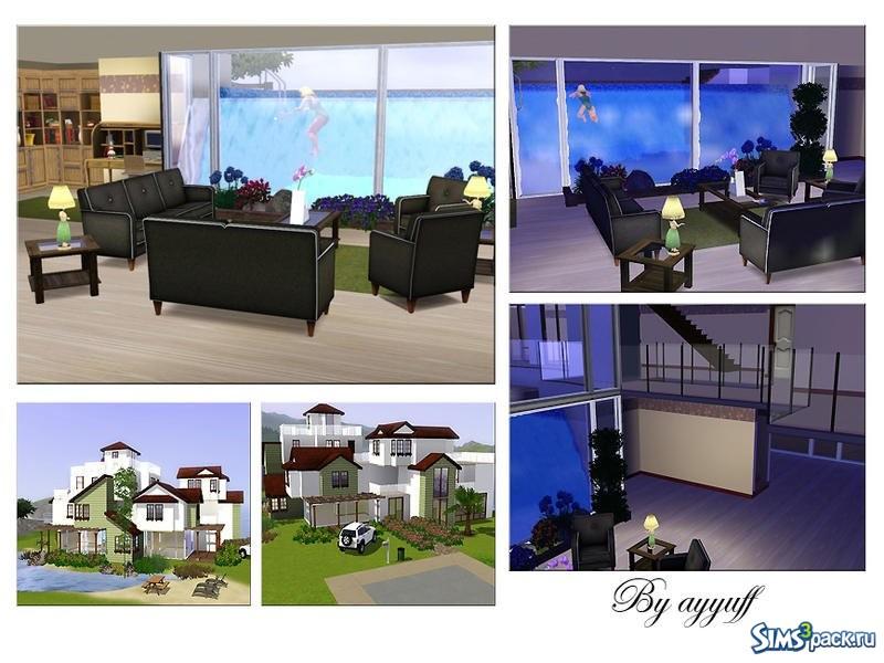 villa de luxe with aquarium pool ayyuff 3. Black Bedroom Furniture Sets. Home Design Ideas