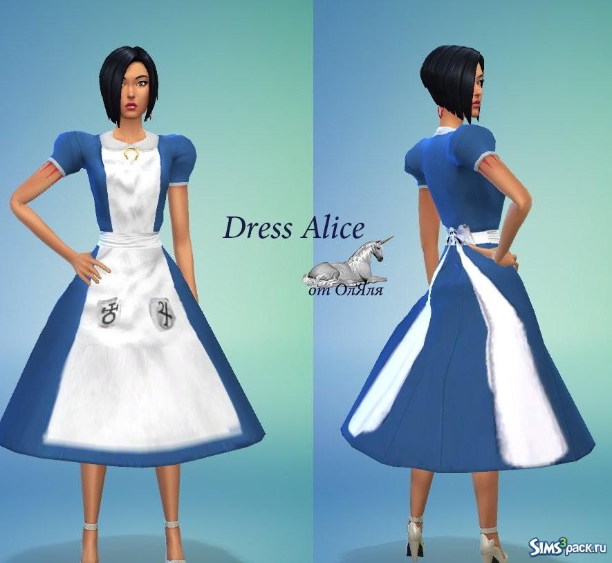 Одежда алисы для симс 4