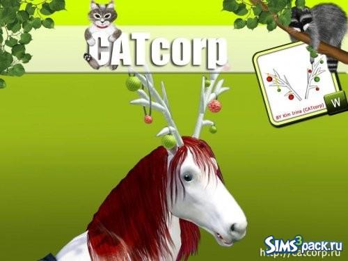 Новогодние рога для лошади