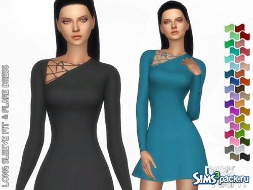Платье Long Sleeve Fit & Flare
