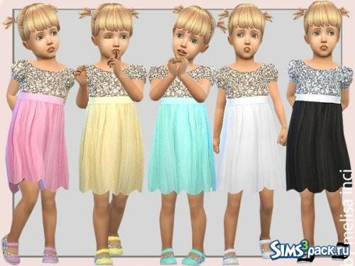 Блестящее платье для малышек