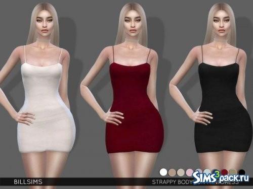 Мини - платье Strappy Bodycon