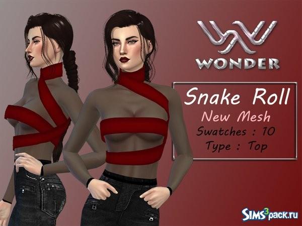 The Sims 4 Snake Thigh Tatoo: скачать бесплатно одежду для Sims 4