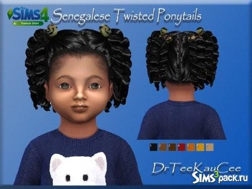 Прическа Senegalese Twisted Ponytails