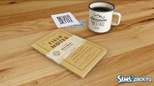 Блокнот и чашка кофе