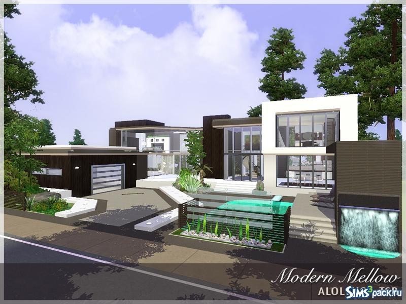 Скачать дом в стиле модерн от aloleng для симс 3.