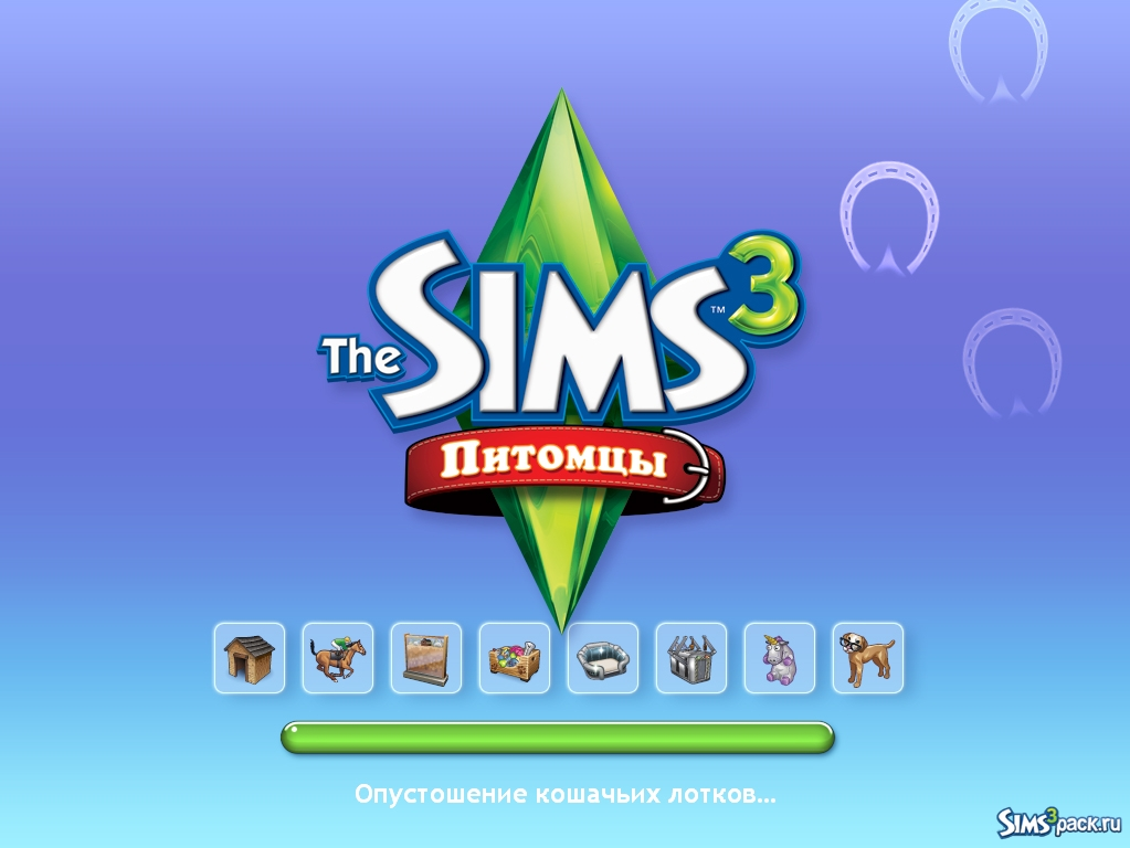 The sims 3 питомцы (the sims 3 pets).