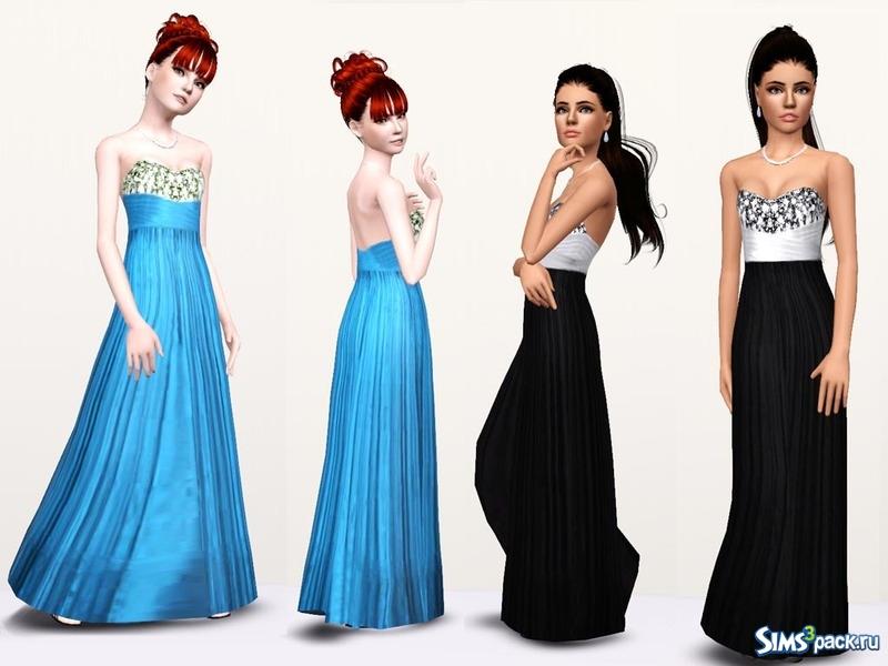 96930236b82 Скачать длинные платья для девушек для Симс 3
