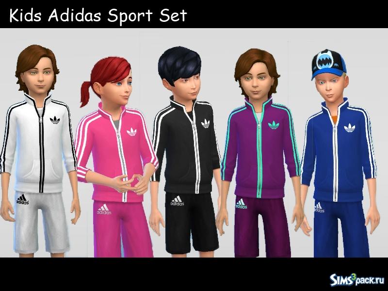 53007c99 Скачать детская спортивная одежда Adidas от Kronronko для Симс 4