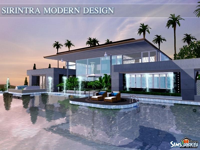 Скачать дом sirintra modern design от autaki для симс 3.