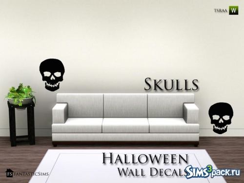 Настенные украшения Halloween Wall Decals от fantasticSims