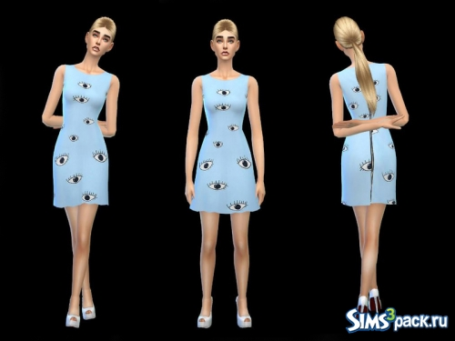 Платье Blue comic minidress - sweet - от simsoertchen
