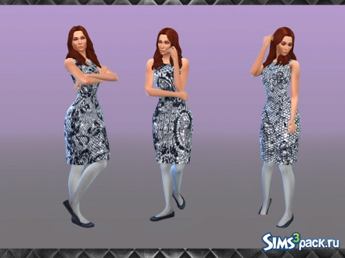 "Платье ""Sequin and Lace Pencil"" от brownieswifesims"